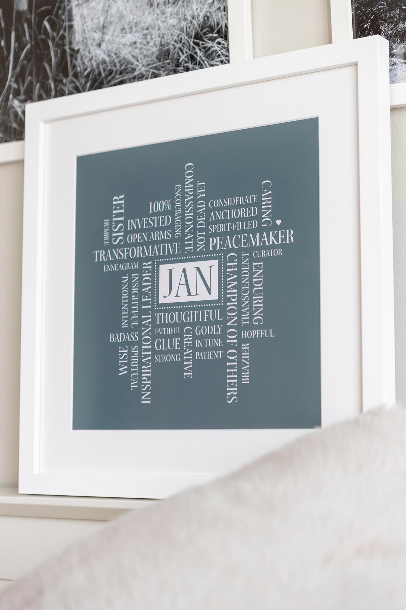 Word Art Cloud Framed Print